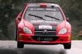 Картинка Красный, Авто, Спорт, Машина, Дождь, Лого, Капот