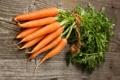 Картинка трещины, стол, пучок, морковь