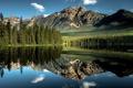 Картинка Alberta, Canada, mountains, reflection, Lake