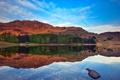 Картинка деревья, горы, природа, озеро, отражение
