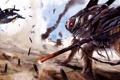 Картинка рисунок, планета, существо, арт, битва, by Young Wolf, This is WAR