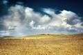 Картинка поле, небо, облака, пейзаж, земля, обои, вид