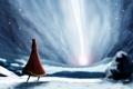 Картинка свет, снег, арт, journey