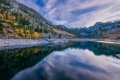 Картинка природа, лес, осень, отражение, озеро