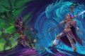 Картинка diablo, warcraft, Witch Doctor, Jaina Proudmoore, Heroes of the Storm, Nazeebo