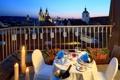 Картинка цветы, свечи, балкон, прага, столик, Prague, Czech