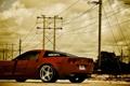 Картинка небо, красный, Z06, Corvette, Chevrolet, red, шевроле