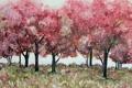 Картинка деревья, фон, картина