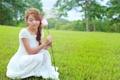 Картинка азиатка, девушка, лето