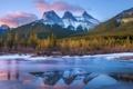 Картинка Alberta, Canmore, Three Sisters