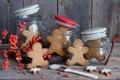 Картинка банки, печеньки, фигурки, еда, ягоды, баночки, печенье