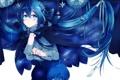 Картинка звезды, аниме, арт, цепочка, плащ, hazuki mizuho