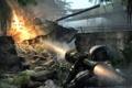 Картинка взрыв, джунгли, танк, нанокостюм, crysis