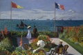 Картинка искуство, картина маслом, 1867, Клод Моне, Терраса в Сент-Адресс