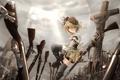 Картинка девушка, оружие, крест, ружье, mahou shoujo madoka magica