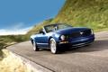 Картинка дорога, небо, синий, Mustang, Ford, Форд, Мустанг