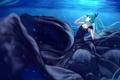Картинка девушка, аниме, платье, арт, vocaloid, hatsune miku, под водой