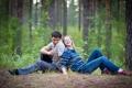 Картинка лес, смех, двое, свидание, она
