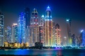 Картинка night, dubai, building