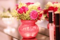 Картинка цветы, красный, вазочка