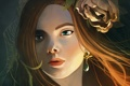 Картинка цветок, девушка, лицо, увядший
