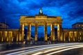 Картинка Берлин, ночь, Brandenburger Tor, Бранденбургские ворота, выдержка, город, Deutschland
