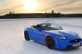 Картинка зима, лес, солнце, снег, синий, Jaguar, ягуар