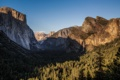 Картинка лес, горы, скалы, водопад, долина, California, Национальный парк Йосемити