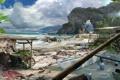 Картинка пляж, берег, Far Cry: 3, горы, палатки, море