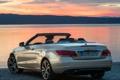 Картинка закат, небо, машина, Cabrio, задок, E 350, BlueTec