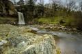 Картинка природа, река, лето, водопад