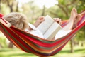 Картинка relax, hammock, reading a book