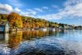 Картинка небо, деревья, река, люди, лодка, англия, яхта