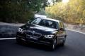 Картинка дорога, деревья, BMW, БМВ, седан, передок, 3 Series