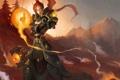 Картинка девушка, магия, арт, эльфийка, Paladin, Lynesta, World or Warcraft