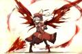 Картинка цветок, девушка, оружие, крылья, арт, чепчик, touhou