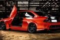 Картинка спорт, скорость, BMW, дверь, красная