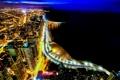 Картинка ночь, город, огни, река, небоскребы, Чикаго, chicago
