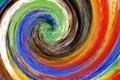 Картинка линии, абстракция, цвет, радуга, картина, спираль, водоворот