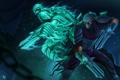 Картинка оружие, дух, воин, маска, арт, клинки, League Of Legends
