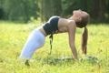 Картинка йога, трава, парк, jordan carver