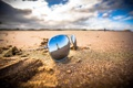 Картинка облака, очки, тень, зеркало, маяк, песок, пляж