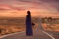 Картинка дорога, девушка, даль, фотоаппарат, Pedro Quintela
