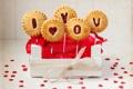 Картинка любовь, сердце, еда, печенье, love, пирожное, i love you