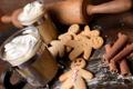 Картинка фон, обои, еда, человечки, печенье, wallpaper, корица