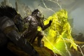 Картинка горы, молнии, дух, воин, Guild Wars 2, тролль