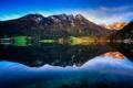 Картинка пейзаж, горы, природа, озеро, оражение