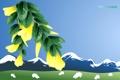 Картинка пейзаж, горы, путешествия, овцы, ветка, туризм, новая зеландия