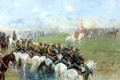 Картинка живопись, войска, РУБО Франц, Смотр войск Александром III