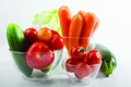 Картинка овощи, помидоры, морковь, капуста, огурцы, кабачок